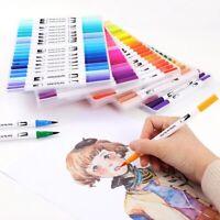 36/48/100 Colours Brush Pen Watercolor Art Drawing Painting Artist Manga Marker