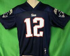 J278 NFL New England Patriots Tom Brady #12 Reebok Jersey Youth XL 18-20