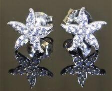 SOLID 9CT 9 CARAT WHITE GOLD STAR FISH STARFISH  DIAMOND  STUD EARRINGS
