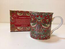 William Morris Ladrón Fresa Porcelana Fina Taza Taza en caja de regalo rojo Leonardo