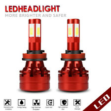 H11 H8 H16 COB LED Fog Light Conversion Bulbs Kits 120W 13200LM 6500K Headlamps