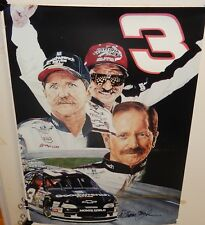DALE EARNHART  COLOR POSTER SIGNED BY WILLIAM