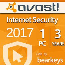 Avast Internet Security 2017 [1 PC] [3 Jahre] - VOLLVERSION - Lizenz