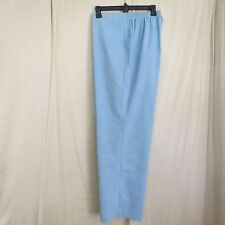 20 Medium Miss Alfred Dunner Shaker Heights Blue Stretch Career Casual Pant NWT