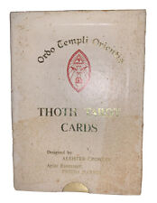 ALEISTER CROWLEY, THOTH TAROT, WHITE BOX A, 1st PRINTING, HONG KONG, OCCULT, OTO