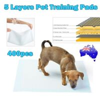 400pcs Puppy Pet Dog Indoor Cat Toilet Pee Training Pads Super Absorbent 60x60cm