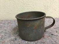 Antique Heavy Tin Cup-Unmarked