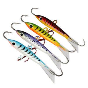 4pcs Ice Jig Lures Minnow Hard Bait Jigging Fishing Lure Trout Bream Bass