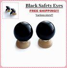 ALL SIZE Black Plastic Safety Eyes Teddy Bear Craft Animal Amigurumi Soft Toy