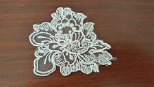 FRENCH LACE MOTIF, APPLIQUE, TRIM WITH CORD FINISH IN IVORY COLOUR