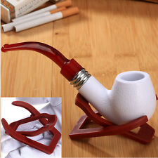 Foldable Smoking Pipe Tobacco Plastic Cigar Rack Pipe Holder Color Red 1Pc