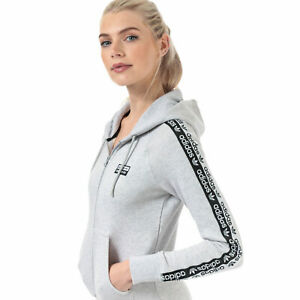 adidas Originals Womens R.Y.V. Full Zip Hoodie 6 8 10 Grey