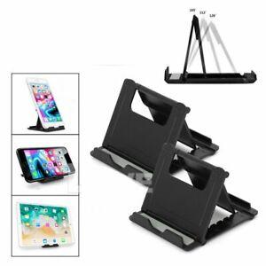 Universal Desk Stand Mobile Phone Tablet Holder Adjustable Foldable Portable