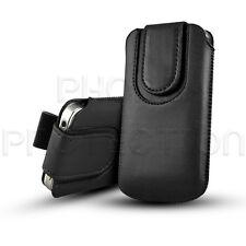 Magnet Knopf Leder Pull Tab Hülle Case Cover Etui Für Verschiedene HTC Handys