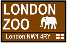 STREET / ROAD SIGNS (LONDON ZOO) - SOUVENIR NOVELTY FRIDGE MAGNET - GIFT - NEW