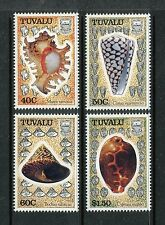 Tuvalu 562-565, MNH, Sea shells 1991: Murex ramosus, Conus marmoreus,  x18897