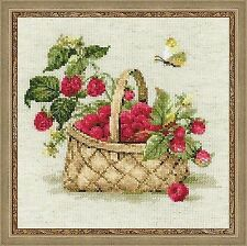 Counted Cross Stitch Kit RIOLIS - RASPBERRIES IN THE BASKET