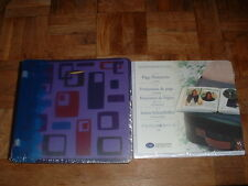 New Creative Memories 7x7 Blue/Purple Plastic Geometric Album Pages & Protectors