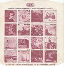 """Vintage INNER SLEEVE or SLEEVES 12"""" EMI ADVERTISING PMC etc Frankie Vaughan x 1"""