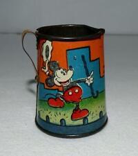 "EX! DISNEY 1930's ""MICKEY MOUSE"" LITHOGRAPHED TIN TEA SET TEAPOT BY OHIO ART"