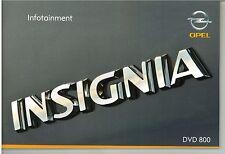 Bedienungsanleitung Opel Infotainment System DVD800, Insignia 08/08 (neu)