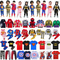 Baby Kid Boy Girl Superhero Hoodie Tops Pants Outfit Jacket Cosplay Soft Costume