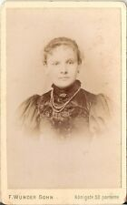 CDV photo Damenportrait / benannt - Hannover 1890er