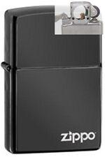 Zippo 24756zl ebony black logo Lighter with PIPE INSERT PL