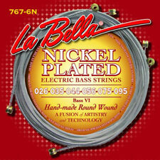 LA BELLA 767-6N NICKEL PLATED ROUND WOUND STRINGS FOR FENDER BASS VI - 26-95