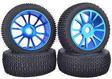 SET RC 1:8 Off-Road Buggy Car Rubber Tyre Tires Metal Wheel Rim Blue M804B1