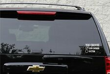 You choose gun owner or not decal in 4 colors
