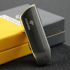 COHIBA Breen&Gold Finish Snake Mouth Shape Torch Jet Flame Cigar Lighter