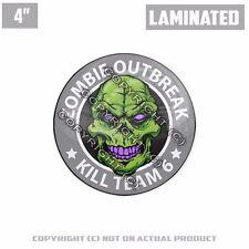 "1 Custom Thick Laminated Glossy 4"" 3M Premium Decal Sticker ZOMBIE KILL TEAM"