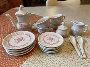 vintage 90's ceramic childs tea set