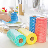 1Roll Disposable Kitchen Cleaning Cloth Non-woven Fabrics Wash Dishes Towels