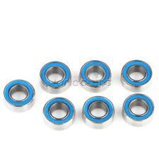10PCS MR105-2RS Blue Rubber Sealed Ball Bearing Miniature Bearing 5 x 10 x 4mm
