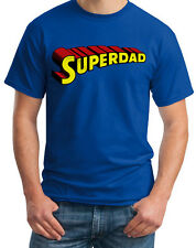 Super Dad Father Superhero Style Funny Birthday Gift Present New Blue T-Shirt