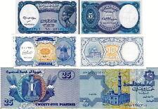 EGITTO - Egypt Lotto 3 banconote 5p/10p/25p FDS - UNC