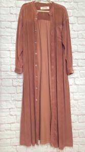 Medium/Large/XL/1X/2X New Free People Pink Corduroy Maxi Duster Coat Dress 168$