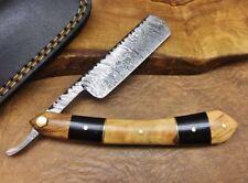 TITANs Handmade Damascus Steel Straight Razor Cut Throat Beautiful Gift ST8