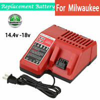 For Milwaukee Replace M18 FAST Battery Charger 14.4V-18V 48-11-1850 48-11-1840