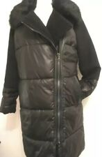 Marks & Spencer Ladies Long Puffa Coat 14 Black