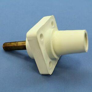 "New Leviton White 16 Series Cam Receptacles 2.0"" Female Plug 400A 600V 16R24-20W"