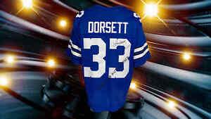 TONY DORSETT AUTOGRAPHED CUSTOM DALLAS COWBOYS BLUE JERSEY JSA  AUTHENTICATED