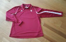 Mens Adidas Indiana Hoosiers long Sleeve polo Shirt Size XXXL 3XL basketball