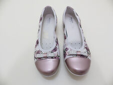 "PRIMIGI Euro 39 floral ballerina flats  Ladies 8 ""Milen"" new leather and fabric"