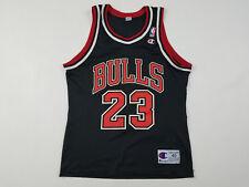 Champion Chicago Bulls Jordan Jersey Men's Medium 40 Black Vintage 90s Iron On