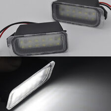 2x bright LED License number Plate Lights For Jaguar XJ 2009-2015 XF 2007-2015