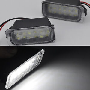 2x bright LED License number Plate Lights For Jaguar XJ 2009-2015 XF 2007-2015