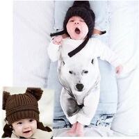 Lovely Newborn Kids Baby Boy Girl Infant Bear Print Romper Jumpsuit Clothes